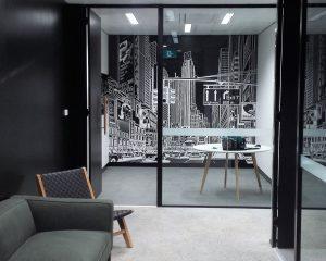 wallpaper in office